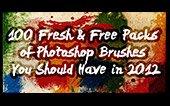 100 packs de pinceles de Photoshop