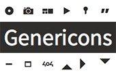 Genericons : Fuente gratuita de iconos
