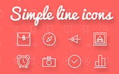 Simple line : iconos gratis