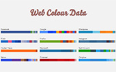 Web Colour Data: Paleta de color de un sitio web